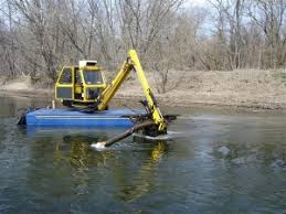way to dredge a pond