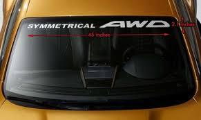 Product Subaru Legacy Outline Windshield Banner Long Lastin Vinyl Decal Sticker 40x3 5