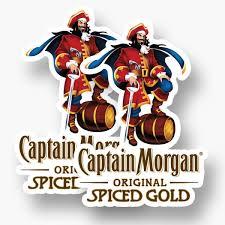 2x Captain Morgan Sticker Vinyl Decal Car Window Rum Captain Dark Spiced Alcohol Ebay