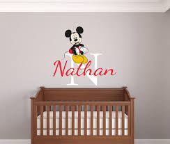 Personalised Name Mickey Mouse Wall Decal