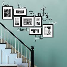 Love Home Family Hope Friends Faith Vinyl Wall Decal Home And Love Family Quote Decor Designs Decals Family Room Walls Family Wall Decals Family Wall