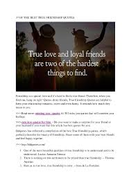 pdf of the true friendship quotes lyndsie beresford