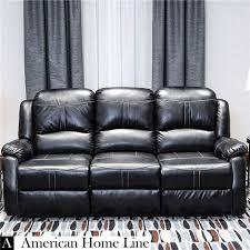 lorraine bel aire reclining sofa in ebony