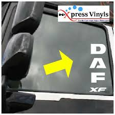 Truck Stickers Graphics Xf Cf Lf Daf Window Decals X 2 Archives Midweek Com