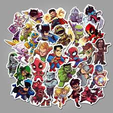 Superheros Sticker Decals 100pcs Laptop Vinyl Stickers For Waterbottle Snowboard Luggage Motorcycle Iphone Macbook Wall Diy Kids Party Supplier Decal Stickerdoll