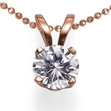 cut solitaire diamond pendant