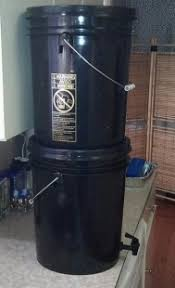 homemade berkey type water filter