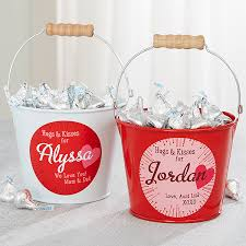 kisses personalized mini treat bucket