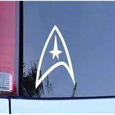 Amazon Com Cmi180 Star Trek Federation Logo Vinyl Decal White Window Sticker Automotive
