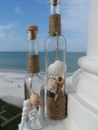 beach bottles with s shell home