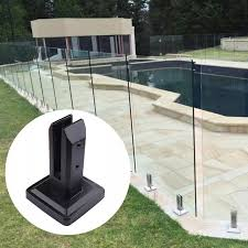 304 Stainless Steel Black U Clamp Glass Panels Pool Fence Staircase Bracket Spigot Balustrade Floor Deck Mount Support Clamp Parts Accessories Aliexpress