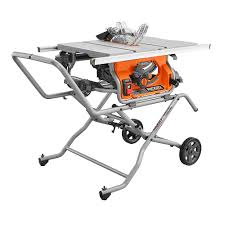 Ridgid 10 Inch Pro Jobsite Table Saw With Stand The Home Depot Canada