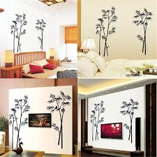Free Shipping Bamboo Mural Removable Craft Art Black Wall Sticker Decal Living Room Home Decor Crafts Home Decor Olivia Decor Decor For Your Home And Office