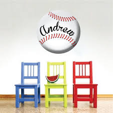 Baseball Decal Sports Wall Decal Murals Boys Room Baseball Decor Custom Baseball Wall Art Baseball Monogram Primedecals