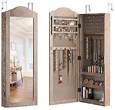 giantex jewelry armoire cabinet wall