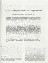 Facial Multilayered Micro Lipo-Augmentation KIRK BRANDOW, MD, AND JULIUS  NEWMAN, MD - PDF Free Download
