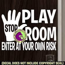 Play Room Bedroom Kids Children Door Wall Sign Vinyl Decal Etsy