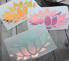 Holographic Lotus Flower Decal Sticker Laptop Car Yeti Tumbler Journal Zen Buddha Chrome Car Decals Vinyl Cricut Crafts Cricut Projects Vinyl