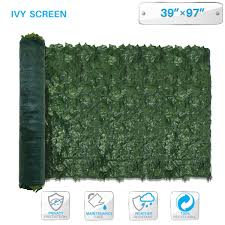 Patio Paradise Com 39 X 97 Faux Ivy Privacy Fence Screen With Mesh Back Artificial Leaf Vine Hedge Outdoor Decor Garden Backyard Decoration Panels Fence Cover Ivy Screen