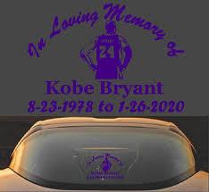 Kobe Bryant Memorial Decal Sticker Black Mamba Decalexpo Com