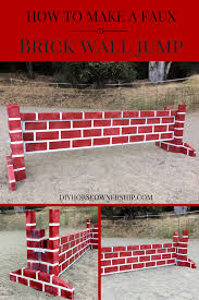 brick wall jump diy horse