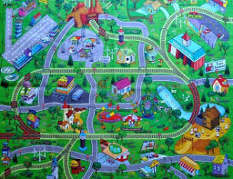 large my town play mat with airport