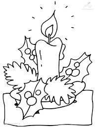 1001 Kleurplaten Kerst Kaarsen Kleurplaat Kerst Kaars