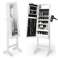 free standing jewelry cabinet mirror