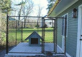 Residential Chain Link Dog Kennel Enclosure Fencing Buffalo Ny Wny Black Chain Link Fence Dog Kennel Outdoor Dog Kennel