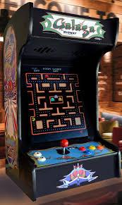 arcade machine black galaga tabletop