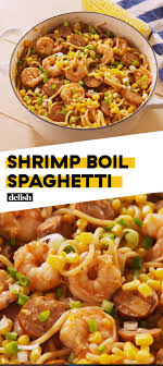 Shrimp Boil Spaghetti | Recipe