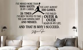Michael Jordan Jumpman Succeed Quote Vinyl Wall Decal Words Sticker Large For Sale Online