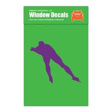 Speed Skater Car Window Decal Lavender Walmart Com