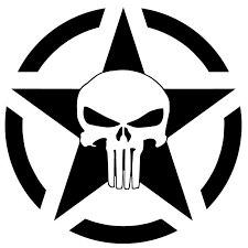 Us Army Punisher Car Decal