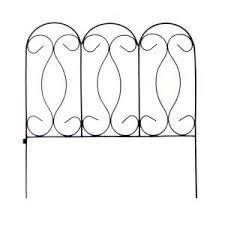 Vigoro 12 In H Black Resin Garden Border Fence 51504 The Home Depot Wrought Iron Fences Outdoor Furniture Makeover Garden Fence Panels