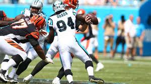 Efe Obada of Carolina Panthers awarded game ball after interception, sack