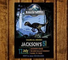 Birthday Invitation Jurassic World Cumpleanos De Dinosaurio