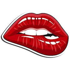Amazon Com Red Lips Sticker Kiss Stickers Waterbottle Sticker Tumblr Stickers Laptop Stickers Vinyl Stickers Kitchen Dining