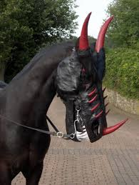 custom leather mask turns your horse