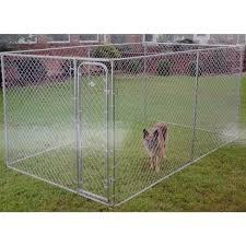 Shop Aleko Dog Kennel Fence Diy Box Kennel Chain Link Pet System On Sale Overstock 19471144