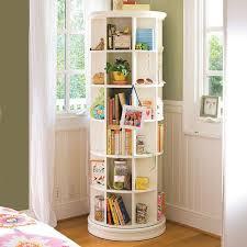 diy spinning bookcase revolving