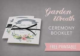 free printable ceremony booklet