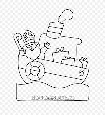 Pakjesboot 12 Kleurplaat Sinterklaas Drawing Steamboat Png