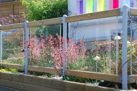 Perspex Fencing Fence Perspex Small Courtyard Gardens