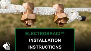 Electrobraid Installation Instructions Corner End Roller Insulators With Copper Split Bolts Youtube