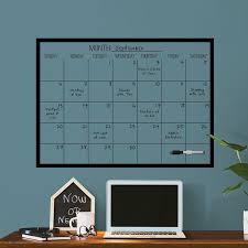 Ebern Designs Monthly Calendar Chalkboard Wall Decal Wayfair
