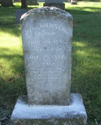 Ada Hansen (1881-1881) - Find A Grave Memorial
