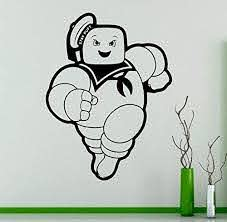 Amazon Com Marshmallow Man Vinyl Decal Stay Puft Ghostbusters Wall Sticker Nursery Interior Wall Graphics Bedroom Children S Kids Home Kitchen