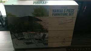 tesco hawaii 6 piece garden set brand