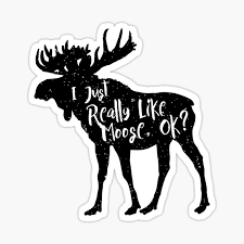 Moose Stickers Redbubble
